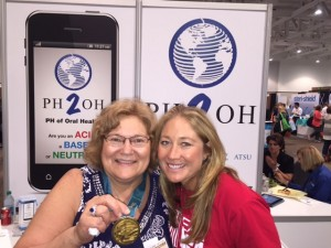 Annette Scheive from GC on the left and Misty Hyman, Olymic Gold Medalist on the right at the ADHA